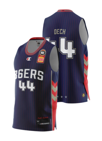 Adelaide 36ers 2021 Authentic Home Youth Jersey - Sunday Dech - Pre Order - Adelaide 36ers