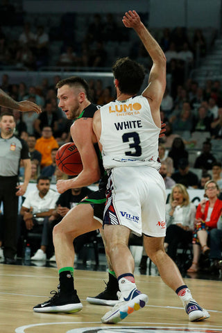 2019/20 Adelaide 36ers Game Worn Away Jersey - Kevin White - Adelaide 36ers
