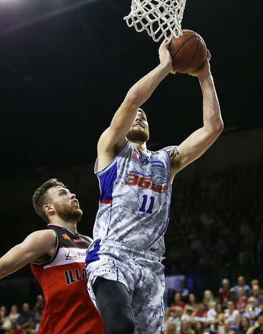 2016/17 Adelaide 36ers Game Worn Finals Away Jersey - Eric Jacobsen - Adelaide 36ers