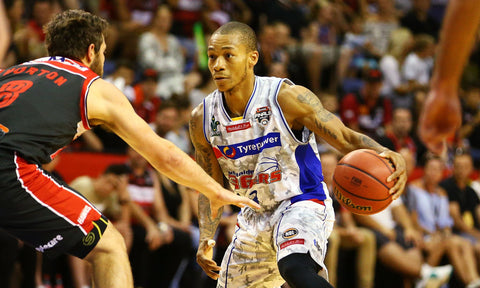 SIGNED - 2016/17 Adelaide 36ers Game Worn Finals Away Jersey - Jerome Randle