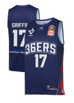 2019/20 Adelaide 36ers Authentic Youth Home Jersey - Eric Griffin