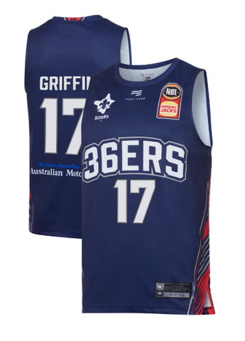 2019/20 Adelaide 36ers Authentic Youth Home Jersey - Eric Griffin - Adelaide 36ers