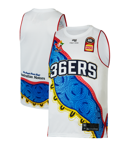 Adelaide 36ers 2019/20 Authentic Youth Indigenous Round Jersey