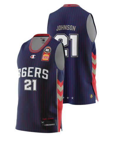 Adelaide 36ers 2021 Authentic Home Jersey - Daniel Johnson - Pre Order - Adelaide 36ers