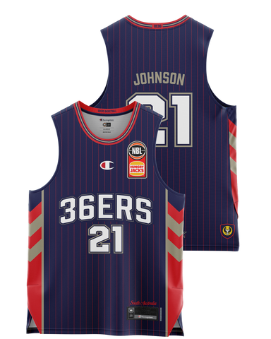 Adelaide 36ers 2021 Authentic Home Youth Jersey - Daniel Johnson - Pre Order - Adelaide 36ers