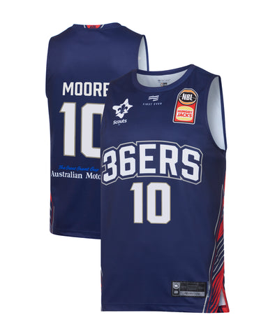 2019/20 Adelaide 36ers Authentic Youth Home Jersey - Ramone Moore