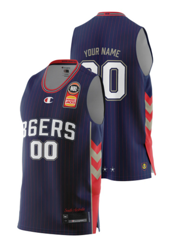 Adelaide 36ers 2021 Youth Authentic Home Jersey - Personalised - Adelaide 36ers