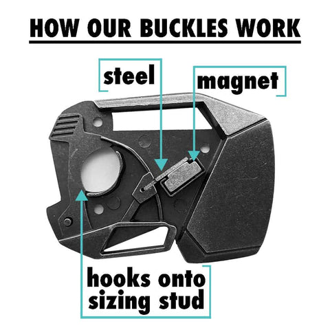 diagram showing how obscure belts are different than any other sort of belt buckle, even those made by montana silversmiths