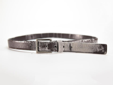 a very poor quality men's belt made with bonded or genuine leather will break apart in less than one year