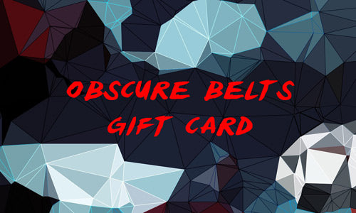 Obscure Belts digital gift card for groomsmen gifts, anniversary gifts, gifts for men, father's day gifts, gifts for guys