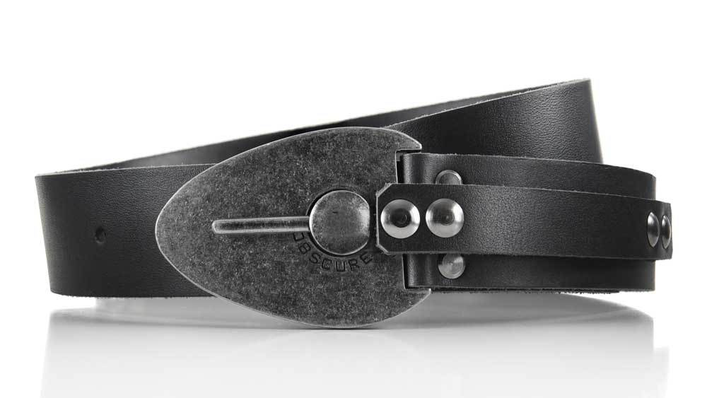 Excalibur cool locking Kraken Octopus belt buckle. Pull the pin to unlock and adjust belt size. Full grain black leather. BIFL