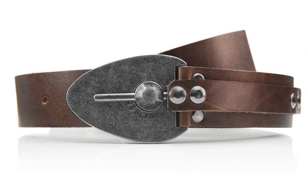 Excalibur cool locking Kraken Octopus belt buckle. Pull the pin to unlock and adjust belt size. Full grain brown leather. BIFL