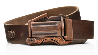 Rustic Outlaw on Brown Leather - open