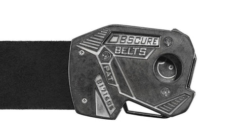 the back of the stone fractal belt buckle has a cool angular design that looks like its from the future