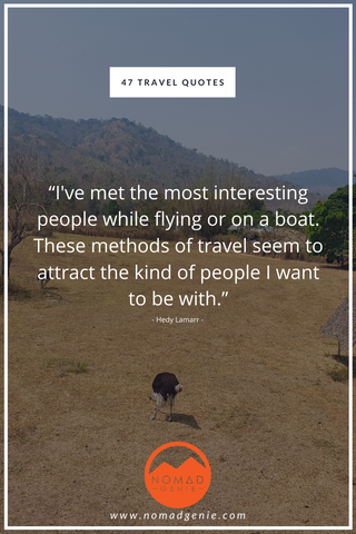 Interesting People Travel Quote