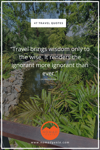 Travel Brings Wisdom To The Wise