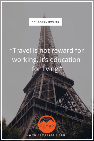 Travel is not reward for working