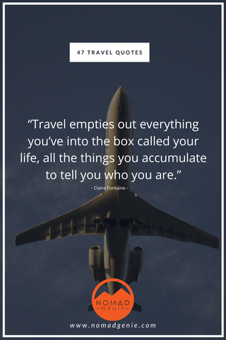 Claire Fontaine Travel Quotes