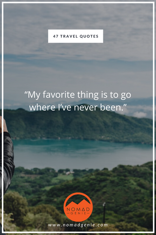 Travel Favourite Thing Quote