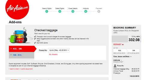Air Asia Baggage Fees