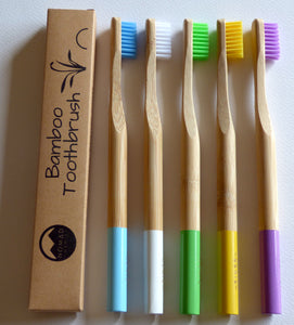 Bamboo Toothbrush Individual Colours