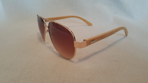 Aviator Bamboo Sunglasses Flame