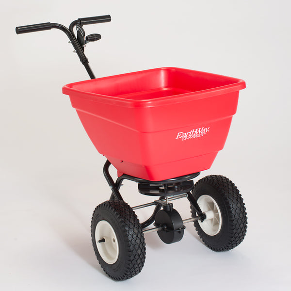 F130SD Commercial DUAL Port PRO Shut-off Stainless Broadcast Spreader
