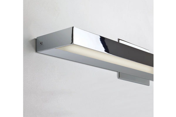 Polished chrome bathroom vanity light