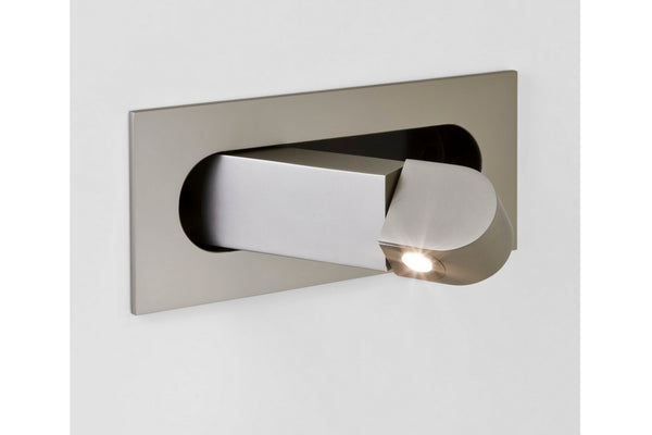 Recessed matt nickel led reading light