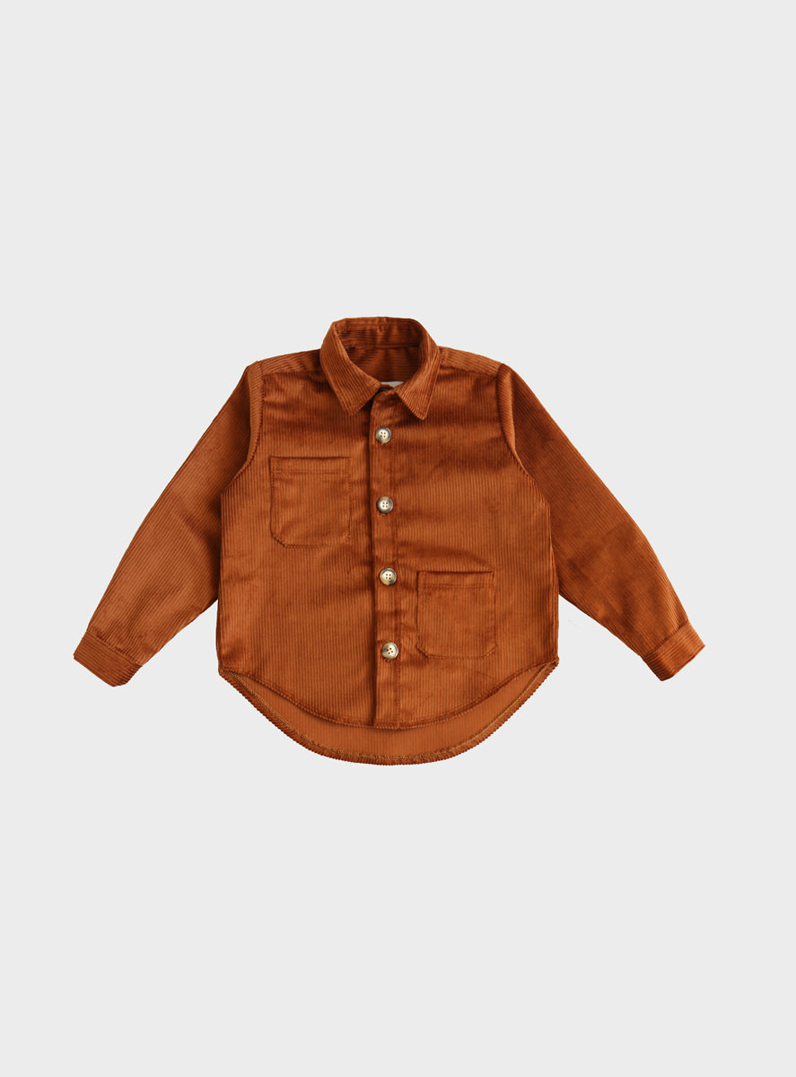 Cinnamon Corduroy Over Shirt