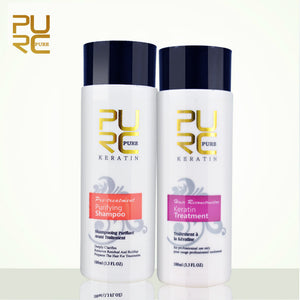 PURC damage hair treatment + purifying shampoo PURE 11.11
