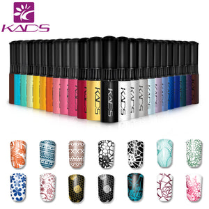 KADS Stamp polish 1 Bottle/LOT Nail Polish  Art Pen 31 Colors