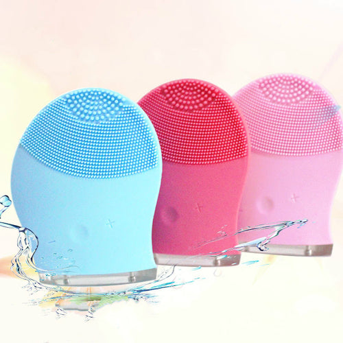 Skin Care Mini Electric Facial Cleaning Massage Brush