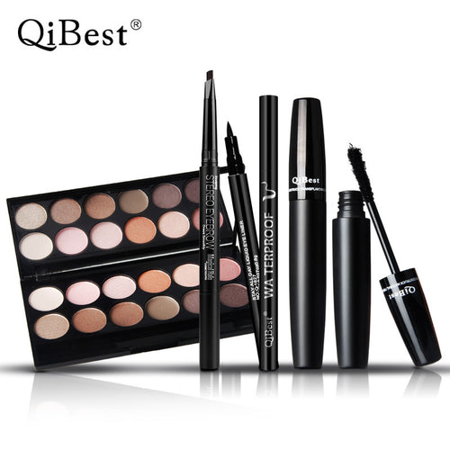 3D eye Mascara + Eyeshadow + Eyeliner + eyebrow makeup 4 pc/set