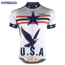 HIRBGOD Mens Cycling Jersey Short Sleeve with Silicone Gripper