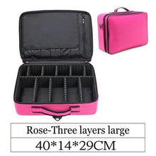 LHLYSGS Brand Professional Beauty Cosmetic Multilayer Toolbox Bag