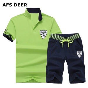 Men's Short Sleeve T Shirt/Shorts Tracksuit Causal Sportswear