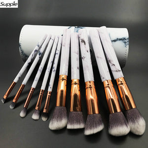 10pc Professional Marble Makeup Brushes