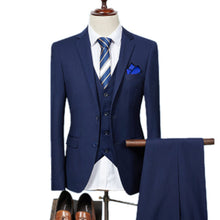 All New! Men Business Three-piece Suit Blazers Coat Trousers Waistcoat