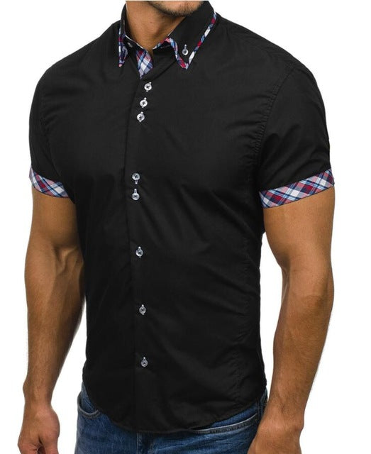 Fashion Casual Slim Short Sleeve For Men/All Occasion