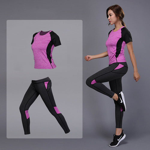 2 Pc Womens Yoga Sets Shirt+Pant/Fantastic Price