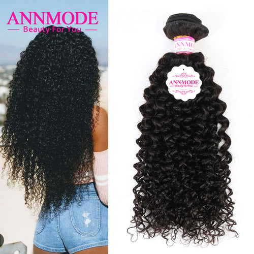 Curly  Natural Color Brazilian Hair Weave Bundles