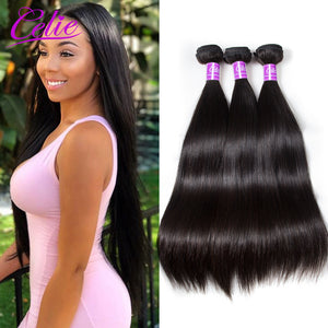 Straight Virgin  100% Human Hair Weave Extensions