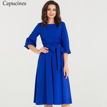 Vintage Women's Elegant Knee-Length Casual Dress
