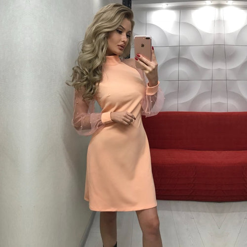 Elegant Womens Mini Party Dress