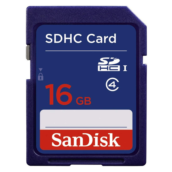 SanDisk 16GB SDHC Flash Memory Card for Camera