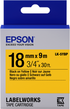 Epson Label Cartridge Pastel  LC-5YBP9 or LC-5YBW9 Black/Yelllow tape 18MM (9M) (C53S626401)