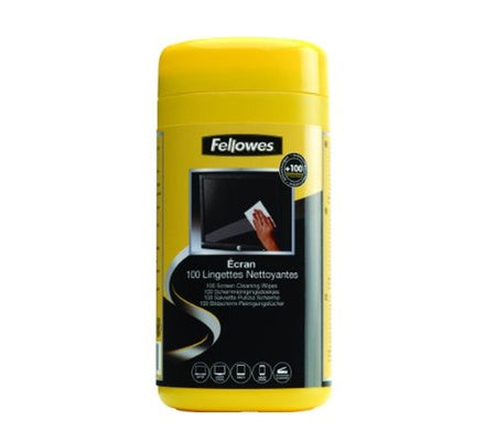 Fellowes Screen Cleaning 100 Wipes TUB (16SWN0006)