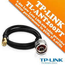 TL-ANT200PT 0.5M Low-loss N-Type Male to RP-SMA Male Pigtail Cable