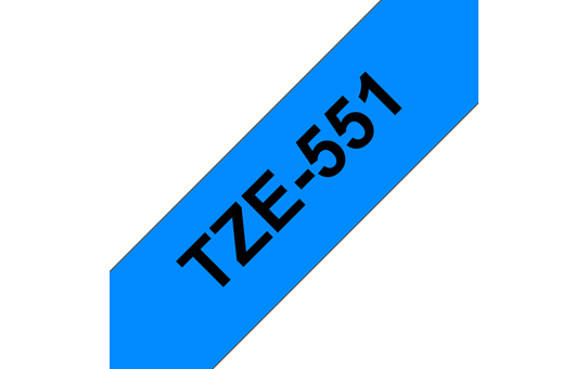 Brother TZe-551 Labelling Tape Cassette – Black on Blue, 24mm wide